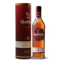Glenfiddich 格兰菲迪 15年苏格兰达夫镇单一麦芽威士忌 700ml *2件
