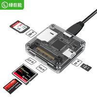 LIano 綠巨能 多合一讀卡器(USB2.0、CF/SD/MS/TF)