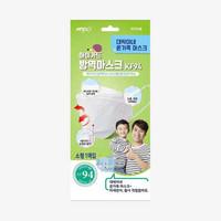 韩国KF94 抗疫口罩 绿色小号5片装*5