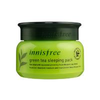 innisfree/悦诗风吟 绿茶精萃夜间保湿修护睡眠面膜 80ml 绿茶分子 清透水润