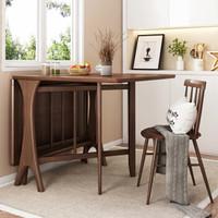 1日0点、61预告:HUANAS 华纳斯 北欧风白腊木折叠餐桌(桌长1.45m)