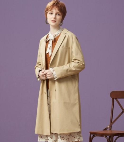 Meters bonwe 美特斯邦威 女士中长款外套