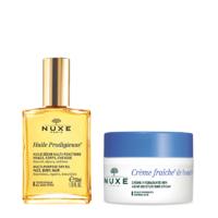 銀聯爆品日 : NUXE 歐樹 植物鮮奶中性肌膚兩件套裝 鮮奶霜50ml+精油30ml