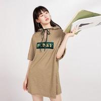 PEACEBIRD 太平鸟 A2FA83A33A4 女士细条纹连衣裙