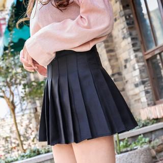 莉夏乐 2019夏季新品女装半身裙短裙韩版女式a字裙子格子百褶裙 GZXCFS71704 粉红 M