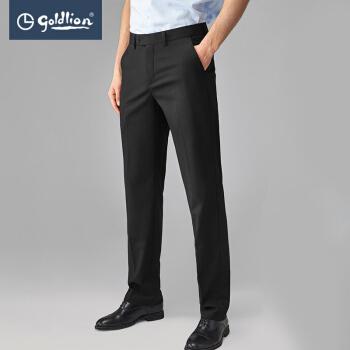 金利来2019夏新款男士穿着舒适修身合体简约商务西裤长裤 黑色 30