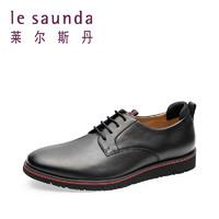 萊爾斯丹 新款商務休閑系帶男鞋男士皮鞋 9MM53305