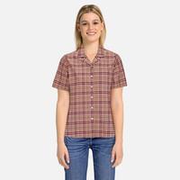 银联爆品日:BURBERRY女士 机织面料 格纹短袖衬衫