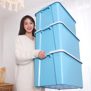 IRIS 爱丽思 塑料收纳箱 54L  3个装