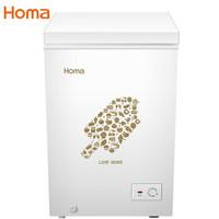 奧馬(Homa)99升小冰柜 臥式冷柜 小型家用節能 一機四用  省電節能 白色 BC/BD-99H2 *6件