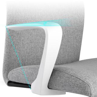 佳佰 电脑椅家用办公椅子布艺会议椅转椅人体工学座椅学生居家书房家具DS-157A