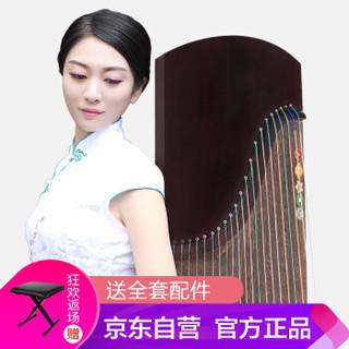 润扬古筝 收藏级专业琴 实木演奏古筝素面款挖筝