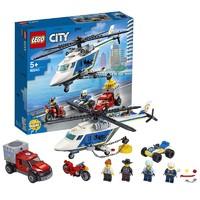 LEGO 乐高 城市组 60243 警用直升机大追击