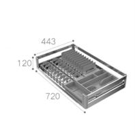 HIGOLD 悍高 304不锈钢厨房碗碟拉篮 800柜体(单层)