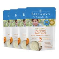 Bellamy's 贝拉米 有机婴儿高铁南瓜米粉 5个月以上 125g/袋 *4件