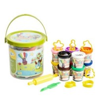 GFUN 兒童彩泥蛋糕主題玩具套裝  10色豪華桶裝彩泥