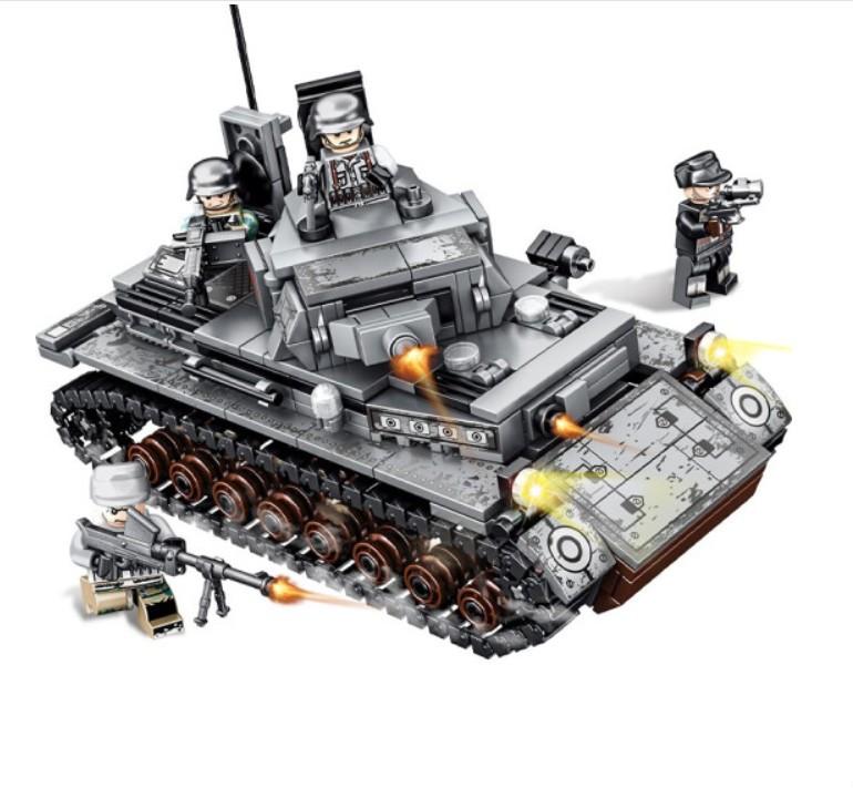 森宝积木 钢铁帝国系列 101322 德国IV坦克