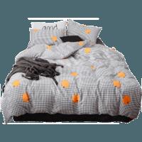 1日0點 : Dohia 多喜愛 秋意暖橙 純棉床上四件套 1.5米床