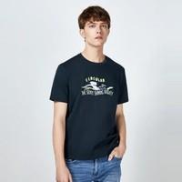 Semir 森馬 19B049001288 男士印花短袖T恤