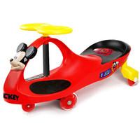 迪士尼(Disney)兒童扭扭車滑行溜溜車閃光靜音輪寶寶搖擺車 靜音閃光輪-米奇扭扭車
