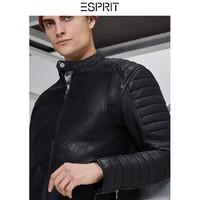限尺码:ESPRIT 埃斯普利特 098EE2G011 男士绵羊皮夹克