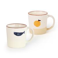 Ginpo 111961 【直营】日本进口小清新手作陶瓷杯柚子马克杯咖啡杯水杯子270ml