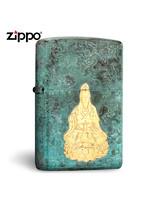美國原裝zippo芝寶打火機正版復古白度母純銅防風男士送長輩收藏 復古白度母