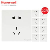Honeywell 霍尼韦尔 10A正五孔插座 白色 20只装
