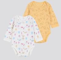 UNIQLO 優衣庫 嬰兒/新生兒 圓領連體裝 2件裝