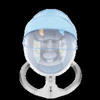 愛保蓓升級款嬰兒電動搖椅哄娃帶娃安撫寶寶睡覺神器寶寶搖籃 藍