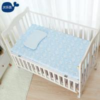 米樂魚 嬰兒床單幼兒園兒童床單新生兒寶寶四季通用床單 天藍90X150cm *2件