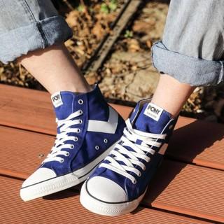 PONY 波尼 普尼 2M1SH08 情侣款高帮帆布鞋