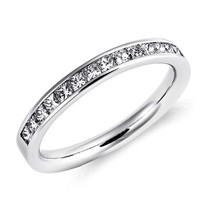 银联爆品日、值友专享:Blue Nile 14K白金 公主方钻戒指 1/2克拉