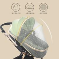 嬰兒車蚊帳全罩式加大加密寶寶手推車透氣防蚊罩高景觀傘車通用