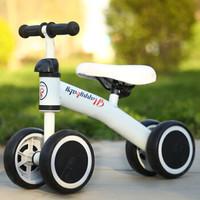 兒童平衡車嬰兒學步滑行寶寶10個月到24個月左右溜溜車小孩玩具扭扭車生日禮物 白色