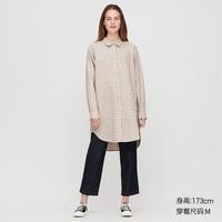 UNIQLO 優衣庫 428466 女士麻棉混紡襯衣