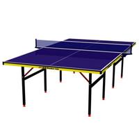 DoubleFish 雙魚 經典款-518E 標準乒乓球桌+紅雙喜 入門羽拍2支