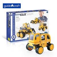 Guidecraft 磁力片积木工程车