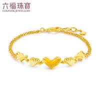 六福珠寶 足金傾訴愛慕黃金手鏈女款 計價 GDG60019 約6.08克