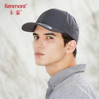 kenmont 卡蒙 男士純色復古可調節大頭圍韓版棒球帽夏季透氣舒適休閑軟頂鴨舌帽 3757