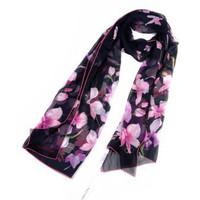 華倫天奴(Valentino)四季通用款歐美時尚女士真絲絲巾圍巾