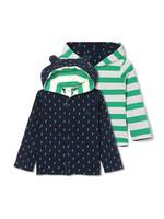 Gap 蓋璞 嬰兒 布萊納小熊刺繡條紋長袖連帽衫