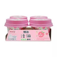 meiji  明治 活俪 酸牛奶 桃子味 100g*4 盒 *10件