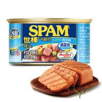 有券的上:SPAM 世棒 午餐肉罐头 清淡味 198g*7+培根味 198g*1