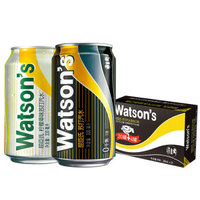 屈臣氏 苏打汽水混合系列饮料(苏打20罐 + 柠檬草味4罐)330ml*24罐 *3件