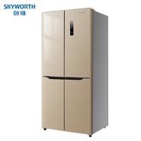 27日6点:Skyworth 创维 BCD-405WXY 定频风冷 双开门冰箱 405升