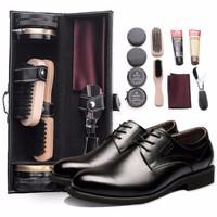 沐沫 家用鞋油 擦鞋套裝工具  鞋油11件套