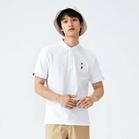 森馬夏季新款男士字母刺繡翻領polo風潮流上衣青年短袖T恤