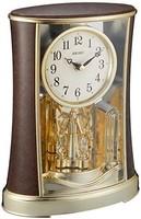 精工表 時鐘 時鐘 模擬 旋轉裝飾 濃茶 木紋 圖案 BY427B SEIKO