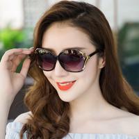 優雅山茶花女士太陽鏡高清防紫外線墨鏡韓版潮時尚復古網紅街拍風